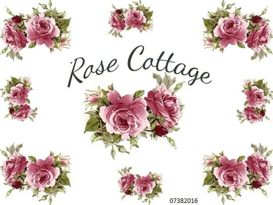 RoSe CoTTaGe SiGN ShaBby WaTerSLiDe DeCALs ~FuRniTuRe SizE~ | Designs By  Iris
