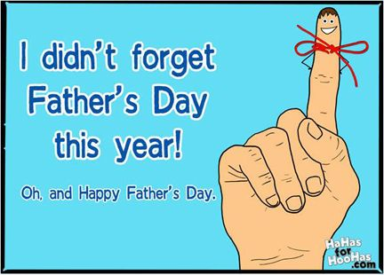 You done good  Good on you for remembering Father's Day! Dad will be so proud