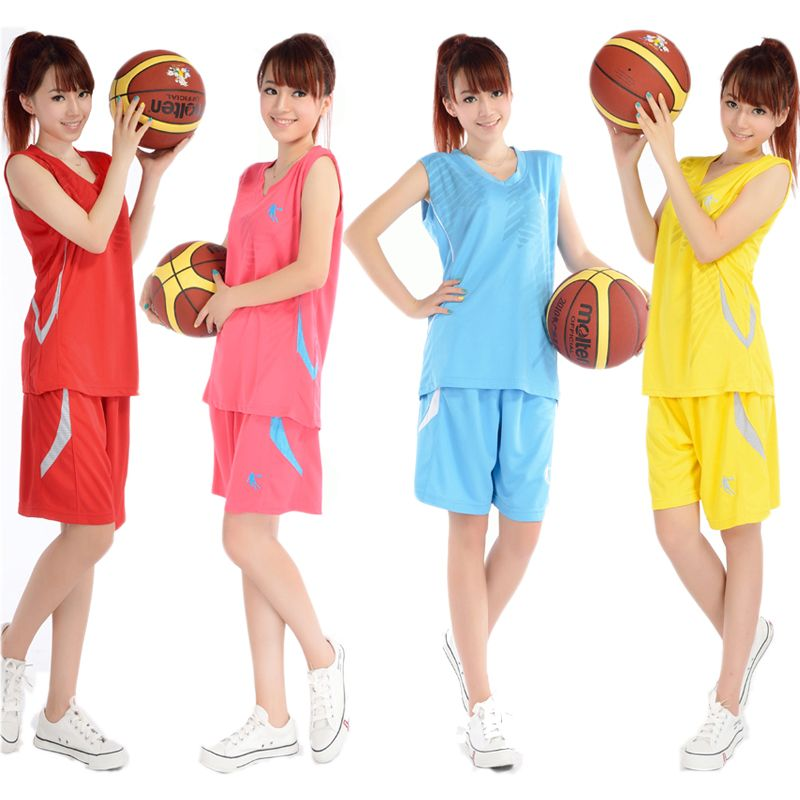 Women Basketball Suit Jerseys Shorts Summer Sweat Breathable Team Training Clothes Girls Sports ...