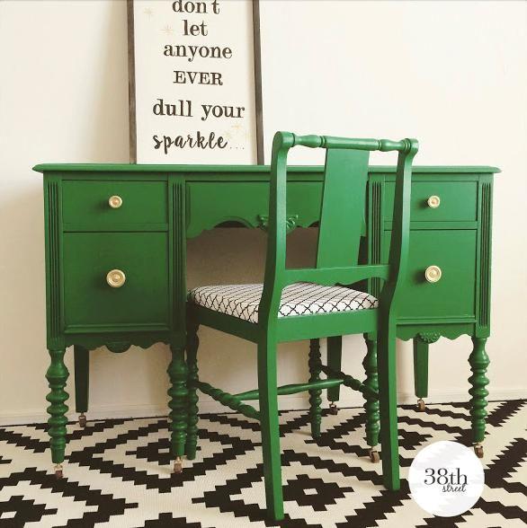 Emerald Green Desk Google Search Furniture Makeover Beautiful