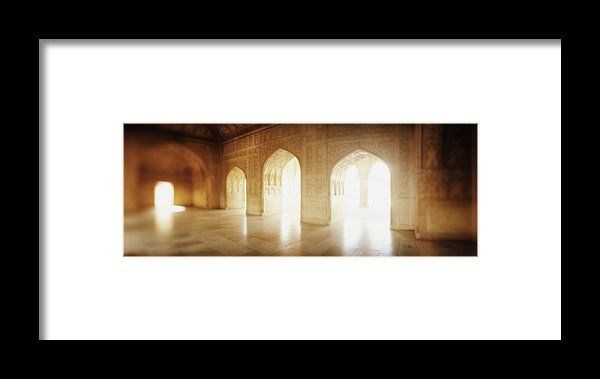 Interiors Of A Hall, Agra Fort, Agra, Uttar Pradesh, India Framed Print By Panoramic Images