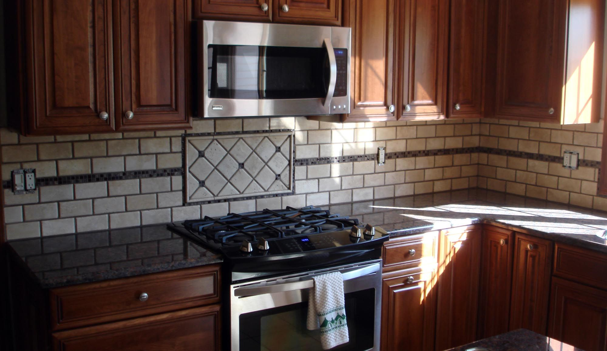 Mosaic Backsplash Design Ideas Part - 33: Tile Designs For Kitchen Backsplash Image - Yahoo Search Results | Kitchen  | Pinterest | Kitchen Backsplash, Tile Design And Yahoo Search