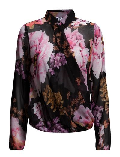 Vero Moda VMFLOWER CROSS L/S TOP NFS