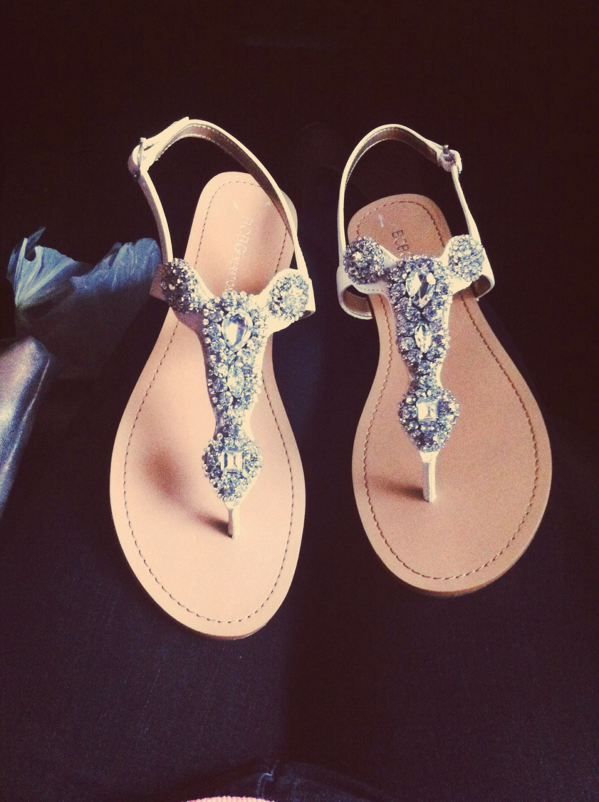 BCBG Sparkly Sandals. We just bought these at TJ Maxx for just $29 ...