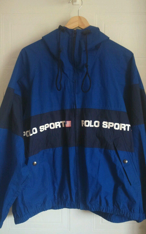 Mens Vintage 90s Ralph Lauren Polo Sport Jacket Blue Size