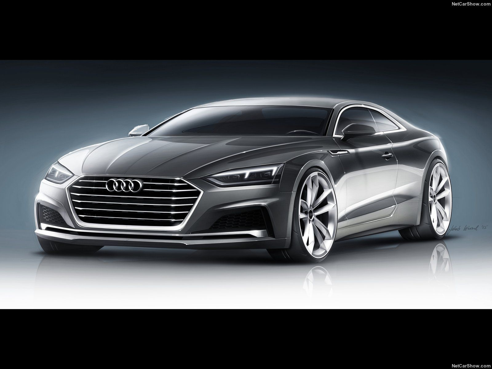 audi a5 coupe 2017 vehicle concept render. Black Bedroom Furniture Sets. Home Design Ideas