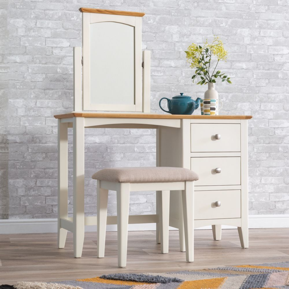 771fef328edd Malvern Shaker Ivory Painted Oak Dressing Table #chilternoak This dressing  table has 3 drawers to the side and comes as a solo item so you can build  the ...