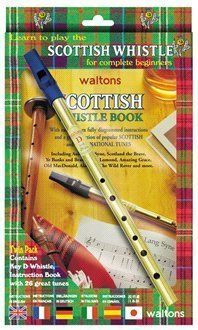 Feadog Irish Tin Penny Whistle in D Learn How To Play Whistle Music Book /& CD