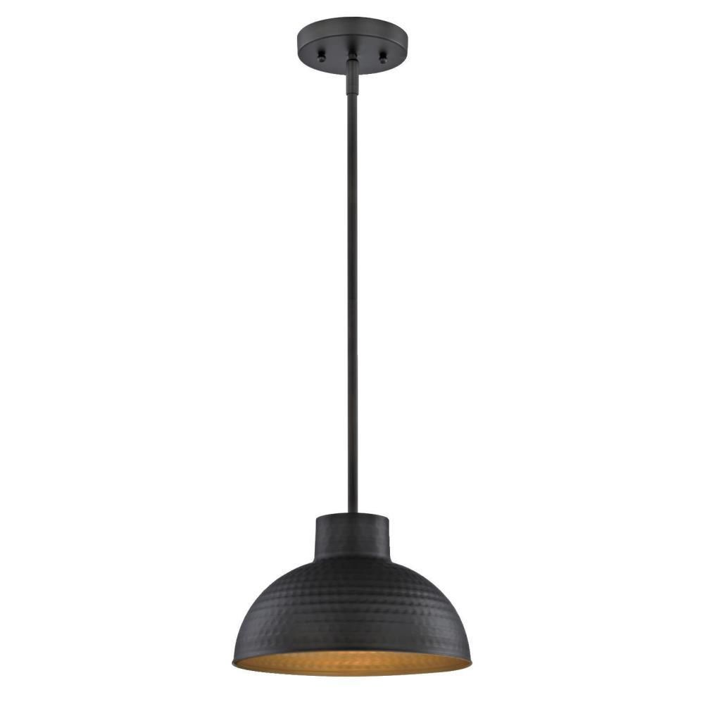 Westinghouse 1-Light Hammered Oil Rubbed Bronze Pendant