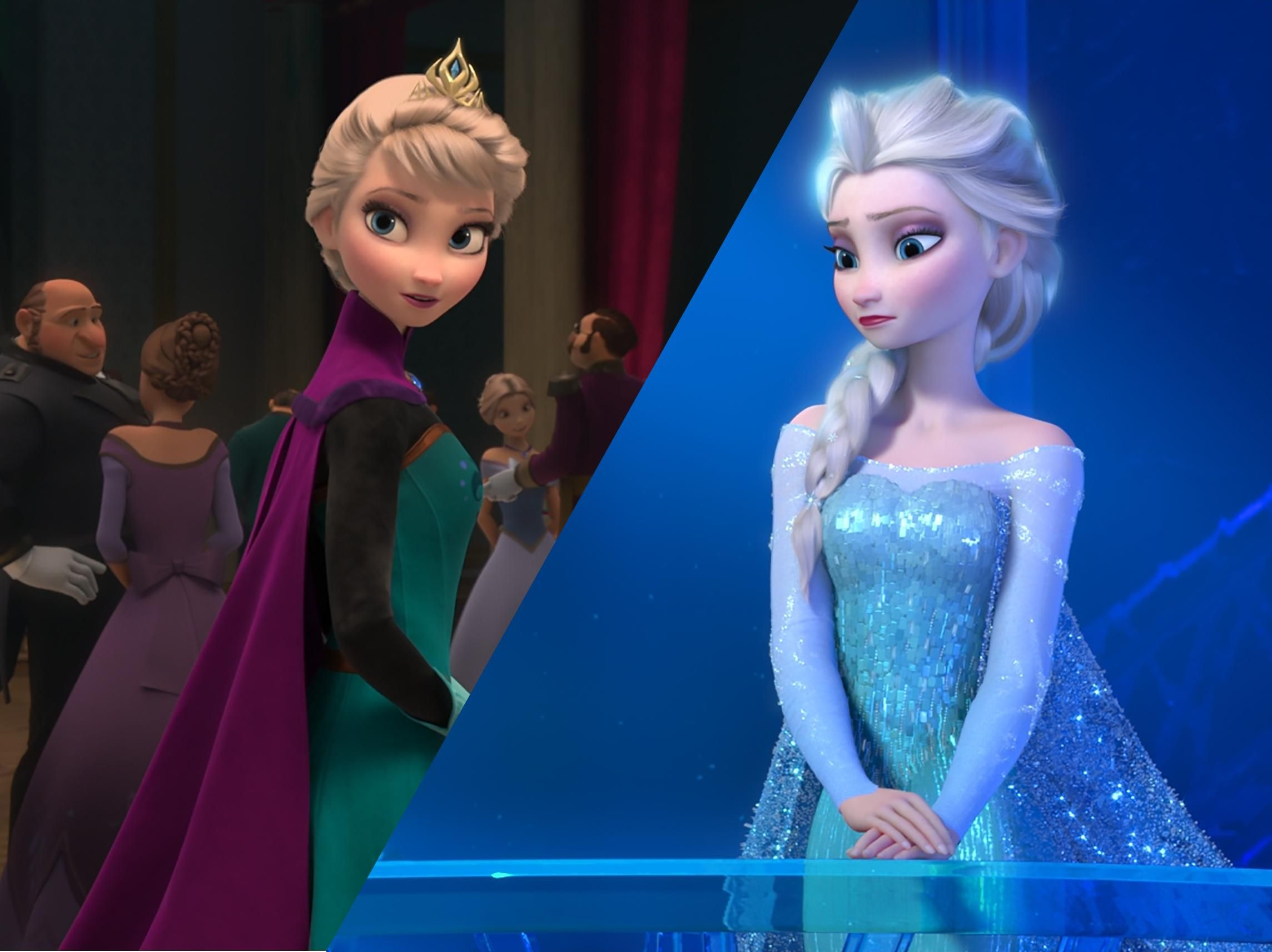 Hair Down Coronation Dress Elsa At Her Ice Palace From R Frozen R Queenelsa Frozen Disney Movie Frozen Fever Elsa Disney Princess