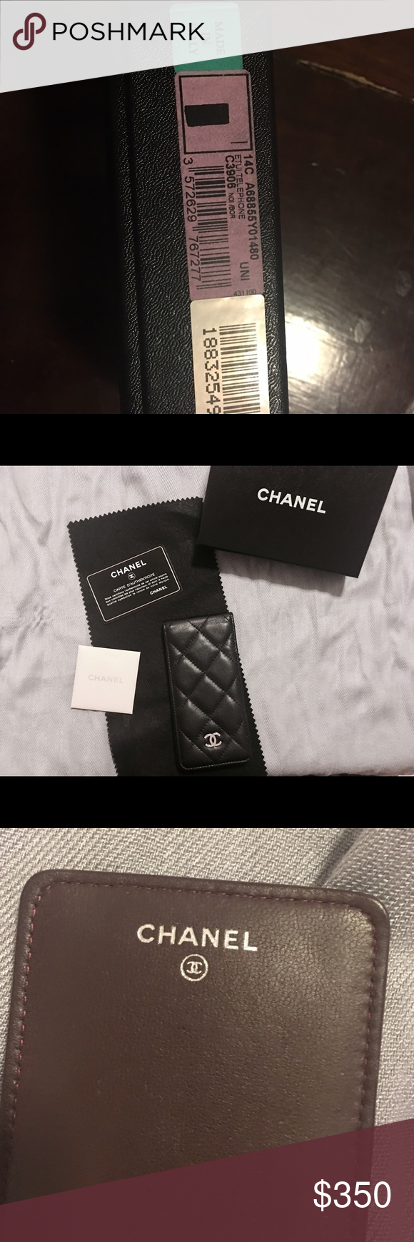 Chanel iPhone 5/SE Phone Case Authentic Chanel iPhone 5/SE phone case. It's in its original packaging and is in perfect condition, it also comes with its authenticity card as serial number. CHANEL Accessories Phone Cases