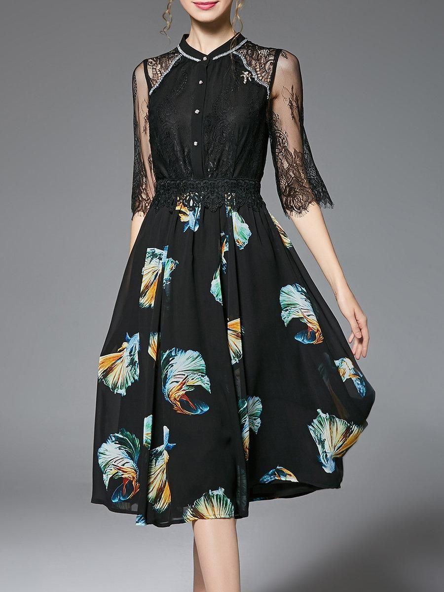 black midi dress with sleeves plus size