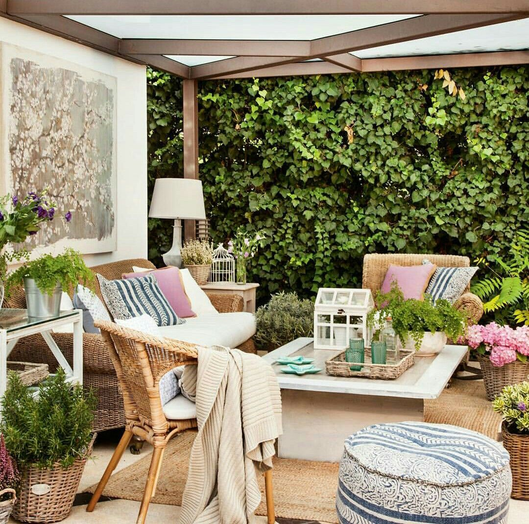 Decoracin terraza Outdoor Pinterest Terrazas Decoracin y Jardn