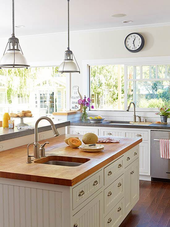 Bhg Kitchen Design Style modern and cottagestyle materials come together to create a