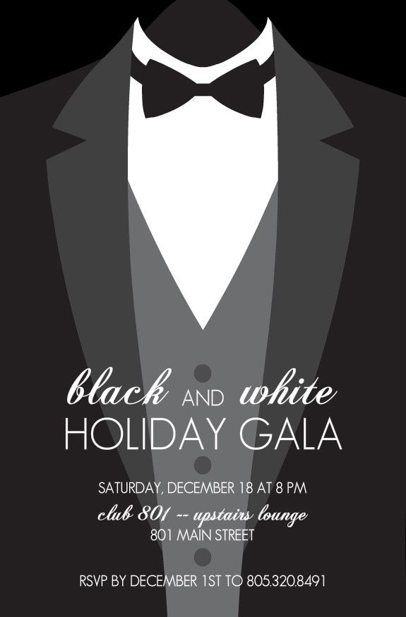 black tie invitations - Google Search | Projects to Try ...