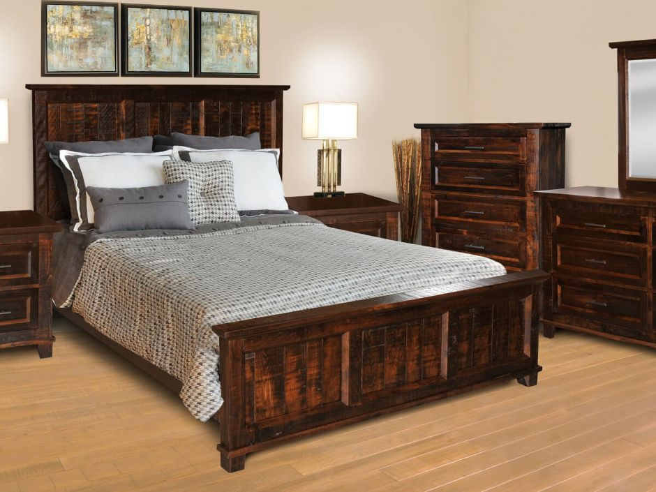 Bear Creek Rustic Hardwood Bed Bedroom Furniture Sets Rustic