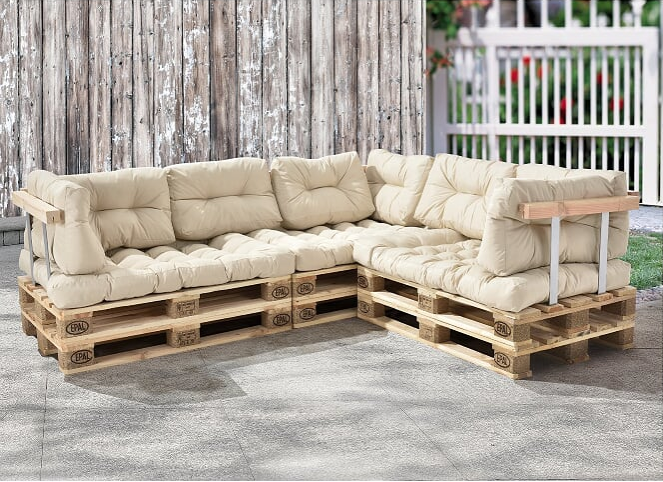 palettenkissen sitzauflage und r ckenkissen diese polster kissen sind perfekt f r ihr eigenes. Black Bedroom Furniture Sets. Home Design Ideas