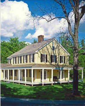 new houses being built with classic new england style - Classic Farmhouse Plans