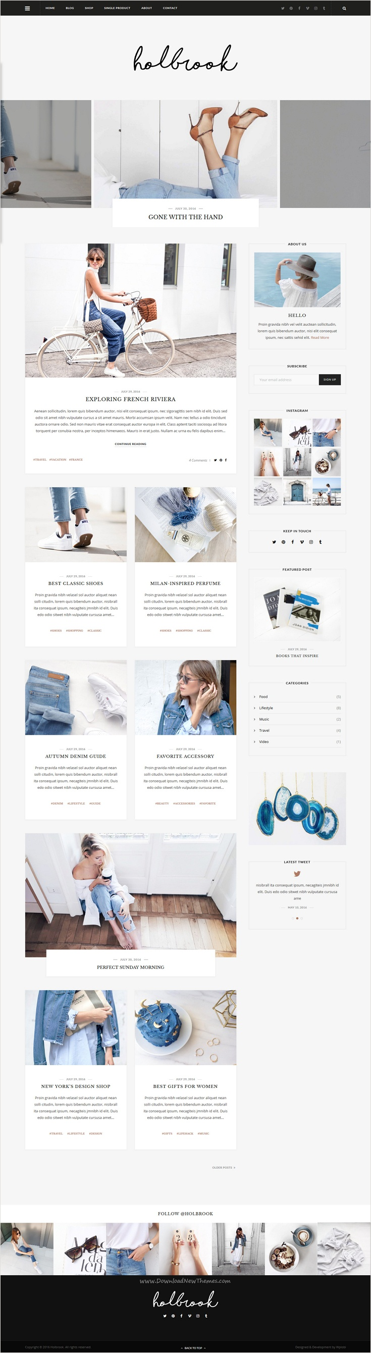 Holbrook - Personal Blog HTML Template