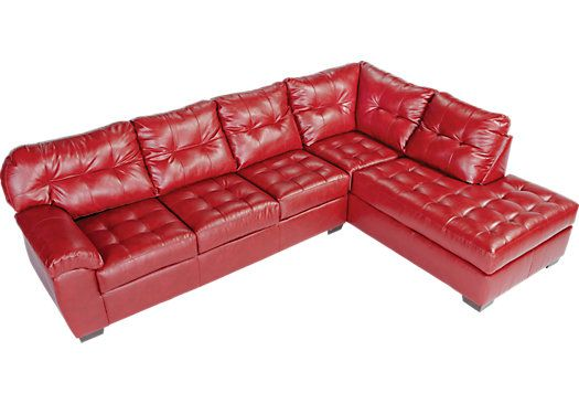 For A Angelo Bay 2 Pc Blended Leather Cardinal Sectional At Rooms To Go