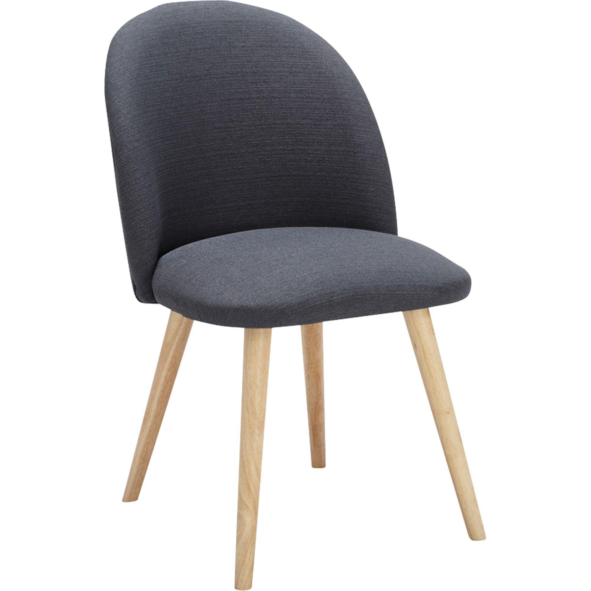 alinea seraphine chaise rtro en tissu gris fonc alinea decoration deco - Chaise Retro