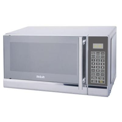 Rca 0 7 Cu Ft Countertop Microwave In Stainless Steel Silver