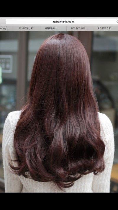버건디 염색/ 레드와인 염색/ 레드와인 머리사진/ 붉은색머리 사진/ 예니가 예전에 염색했다구 올렸잖아요!...