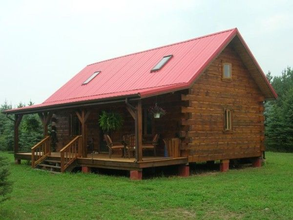 Image of Astonishing Log Cabin Home Plans Designs with Skylight ...