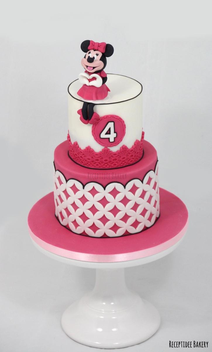 gefeliciteerd taart nl Minnie Mouse taart Gefeliciteerd Lynn met je 4e verjaardag! http  gefeliciteerd taart nl