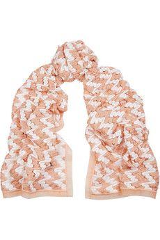 Missoni Metallic organza-trimmed crochet-knit scarf   THE OUTNET ... 0c8201fc96d