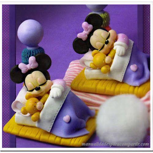 Manualidades para compartir souvenirs de porcelana fria - Manualidades minnie mouse ...