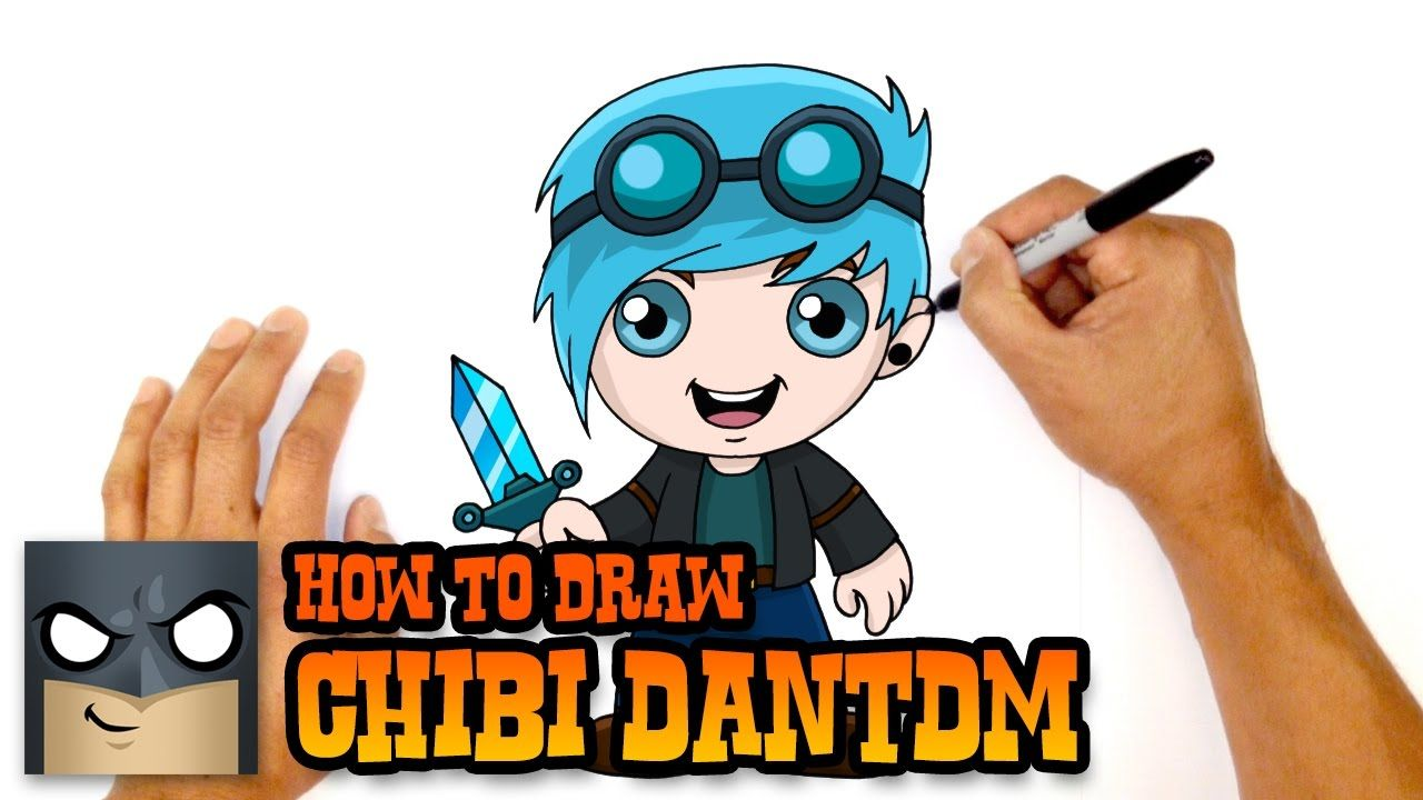 How To Draw Dantdm Diamond Minecart Simple Art Lesson