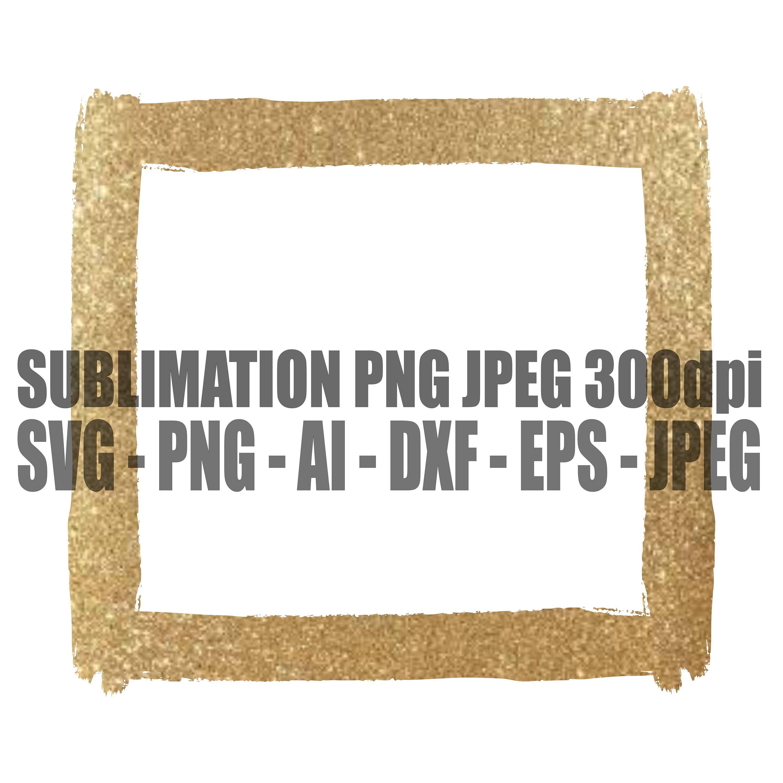 Glitter Gold Frame Square Box Distressed Grunge Png Jpeg Etsy Gold Frame Frame Graphic Editing