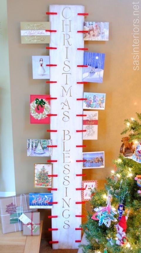Christmas card display christmas pinterest card displays christmas card display m4hsunfo Image collections