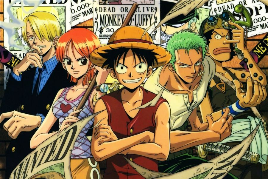 Manga Anime Japan One Piece Characters Meal Giant Wall Art Poster Print