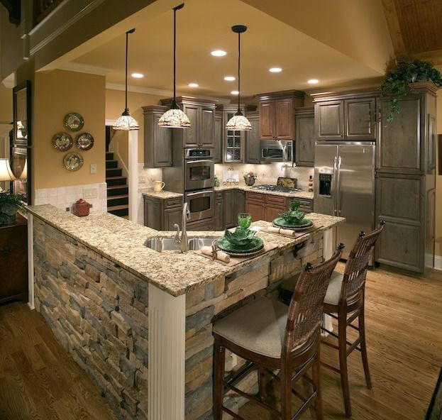 Gray Cabinets And Brick Love This Look And Feel Kitchen - How much to do a kitchen remodel