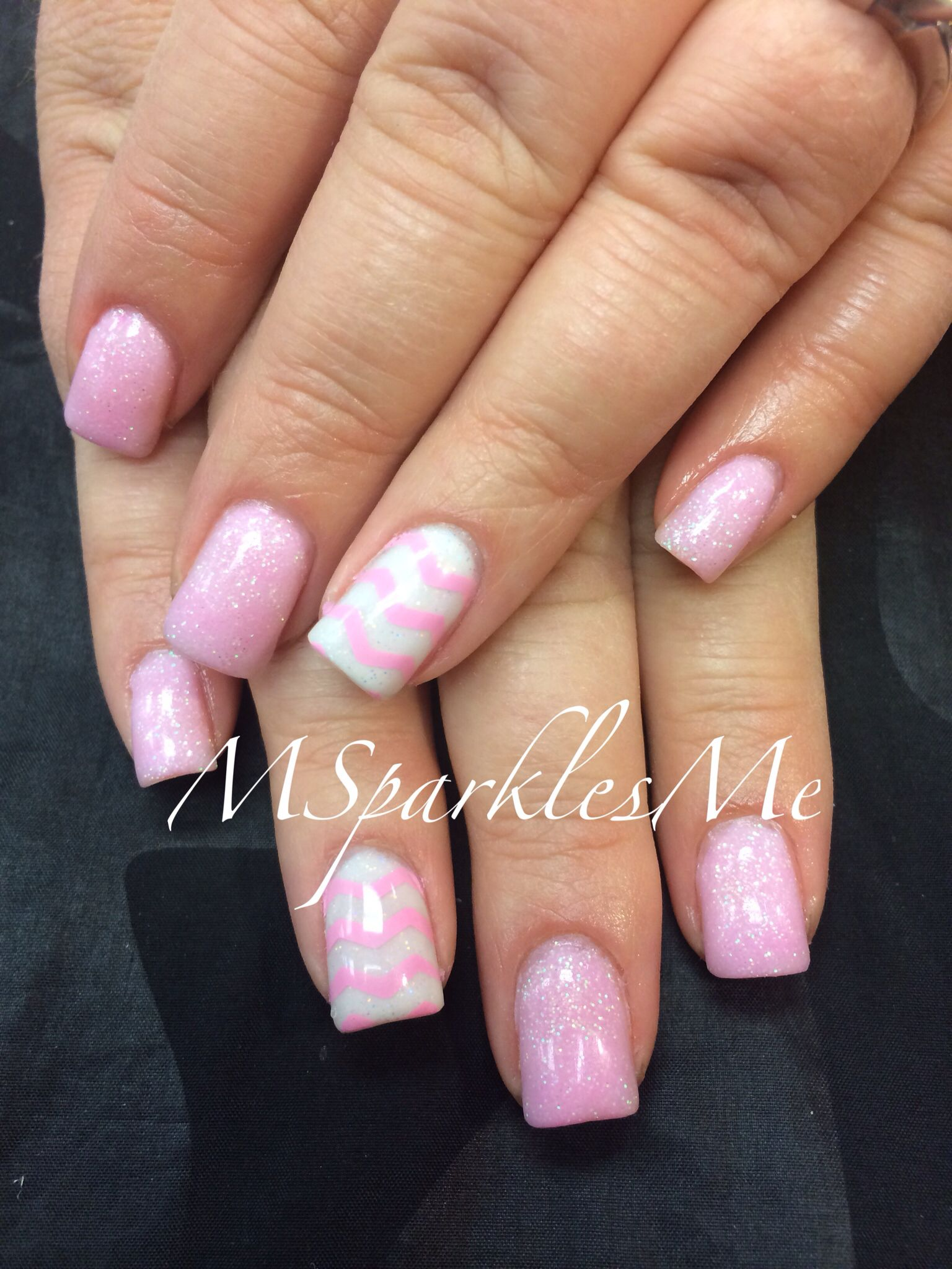 Pink Chevron Nails   Nails   Pinterest