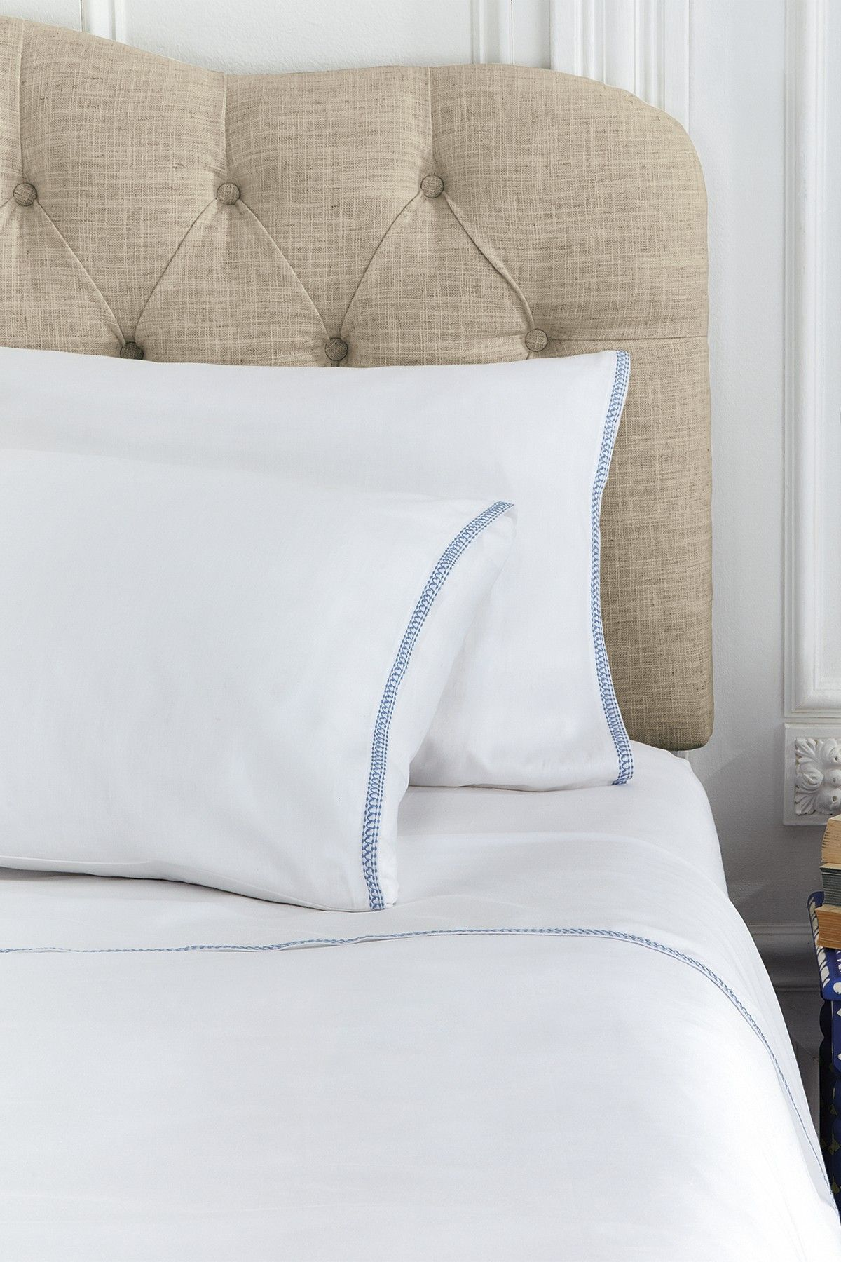 Corrie White Solid Embroidered Sheet Set Cal King