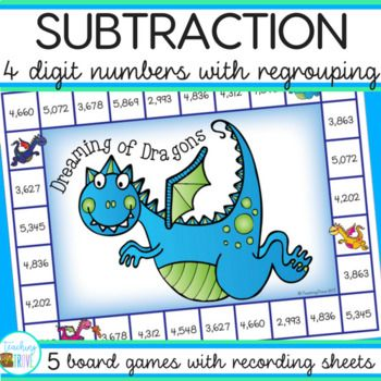 image about Subtraction With Regrouping Games Printable referred to as Subtraction Online games - 4 digit subtraction with regrouping