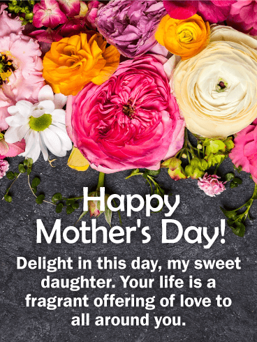 To My Sweet Daughter Happy Mother S Day Card Birthday Greeting Cards By Davia Happy Mothers Day Wishes Happy Mother S Day Card Happy Mother Day Quotes