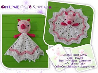 Piglet Amigurumi Free Pattern : Online craft sanctuary: mini piglet lovey free pattern craft