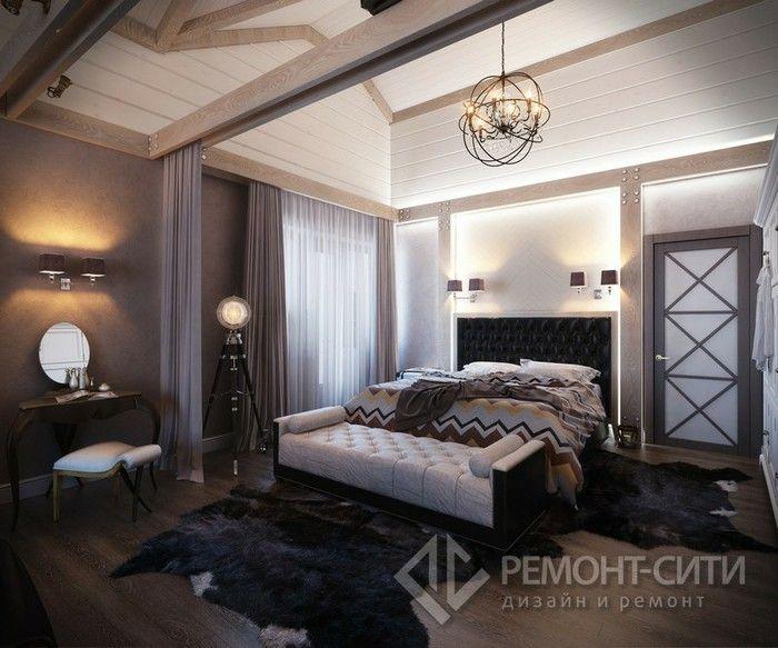 Интерьер спальни в загородном доме фото   Country bedroom ...