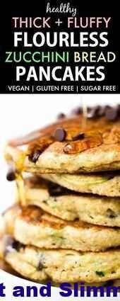 Healthy Flourless Zucchini Bread Pancakes Vegan Gluten Free Sugar Free