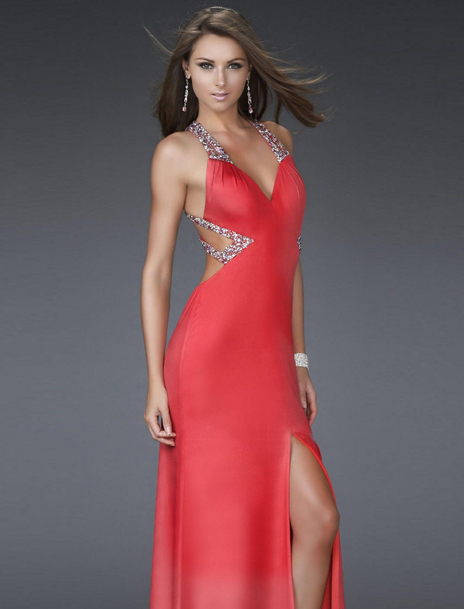 top 10 evening gown designers | ... Column Floor Length Prom Dress ...