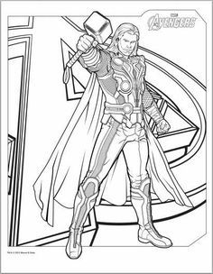 Avengers Thor Coloring Page Avengers Coloring Pages Marvel Coloring Avengers Coloring