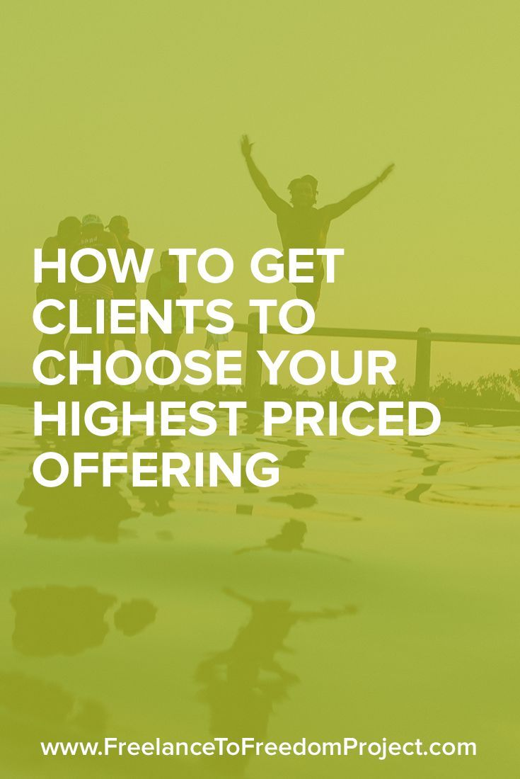 Clients always choosing your lowest price freelance packages or services? This one tweak I made helped me get all my clients to choose my highest priced offering. Check it out!