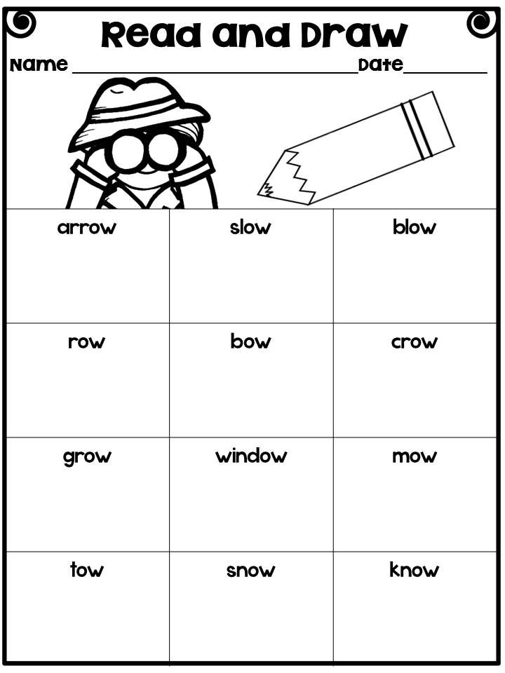 Long O Vowel Team - OA and OW: Word Sorts, Poems, Worksheets ...
