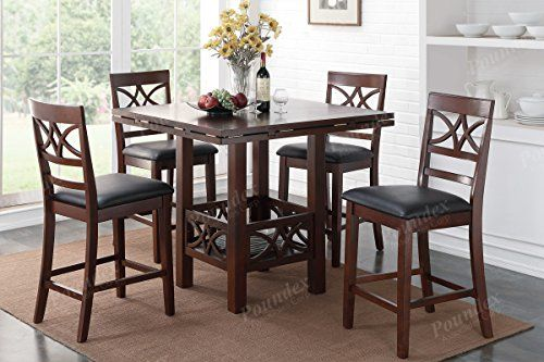F1446 Set Of 2 Counter High Chair By Poundex Poundex Https Www Amazon Com Dp B01k7jd Kitchen Bar Table Counter Height Dining Table Counter Height Dining Sets