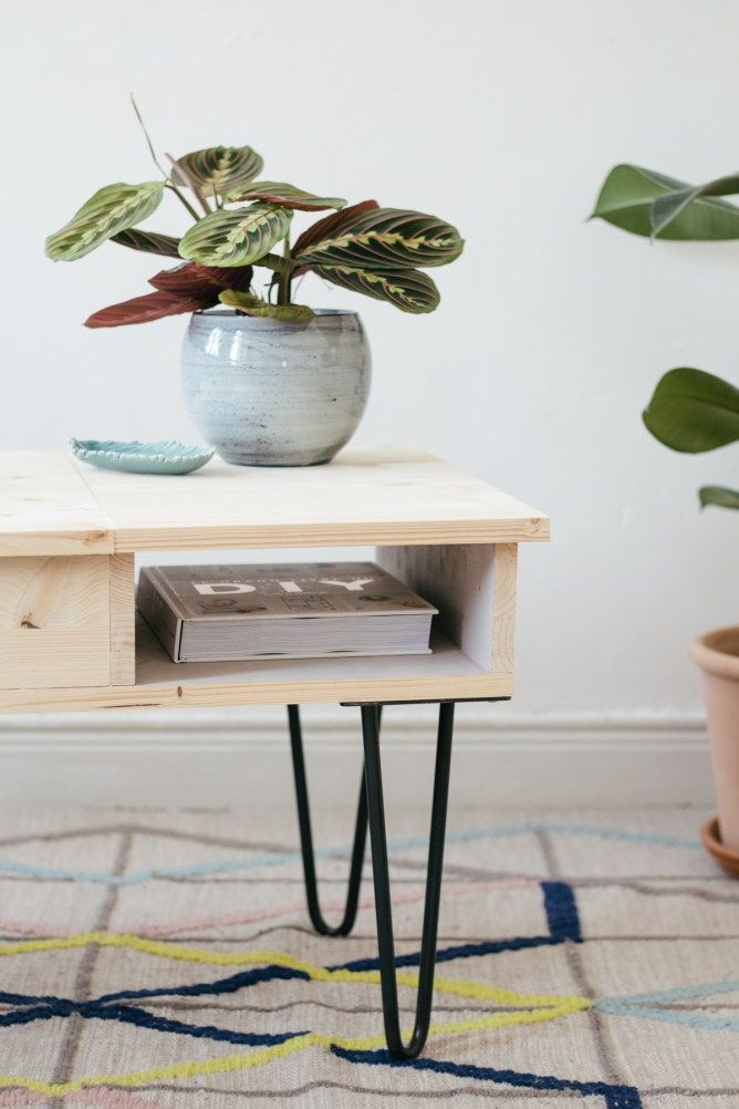 diy la table basse ses hairpin legs sans clou ni vis. Black Bedroom Furniture Sets. Home Design Ideas