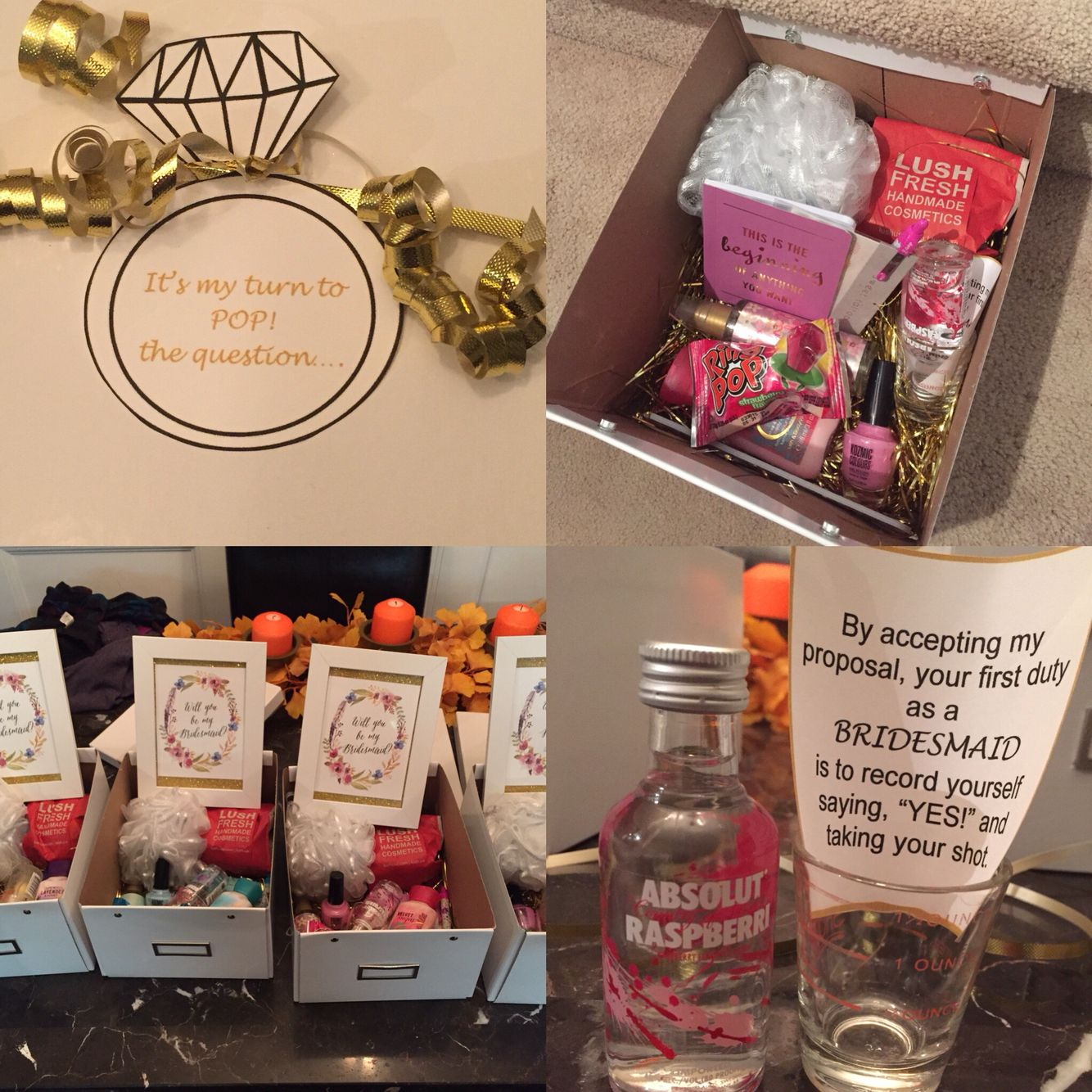 What I Made To Ask My Girls To Be My Bridesmaids & Maid Of